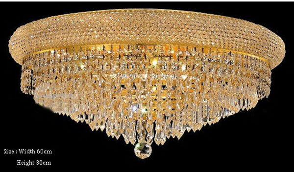 Phube Lighting Empire Gold Crystal Ceiling Light Modern Flush Mounted Light+Free shipping!