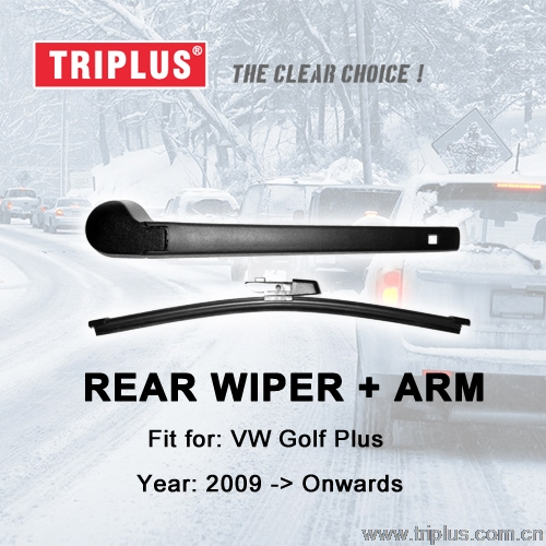 Rear Wiper Arm with Blade for VW Golf Plus (2009-Onwards), Rear Wiper Arm & Rear Wiper Blades