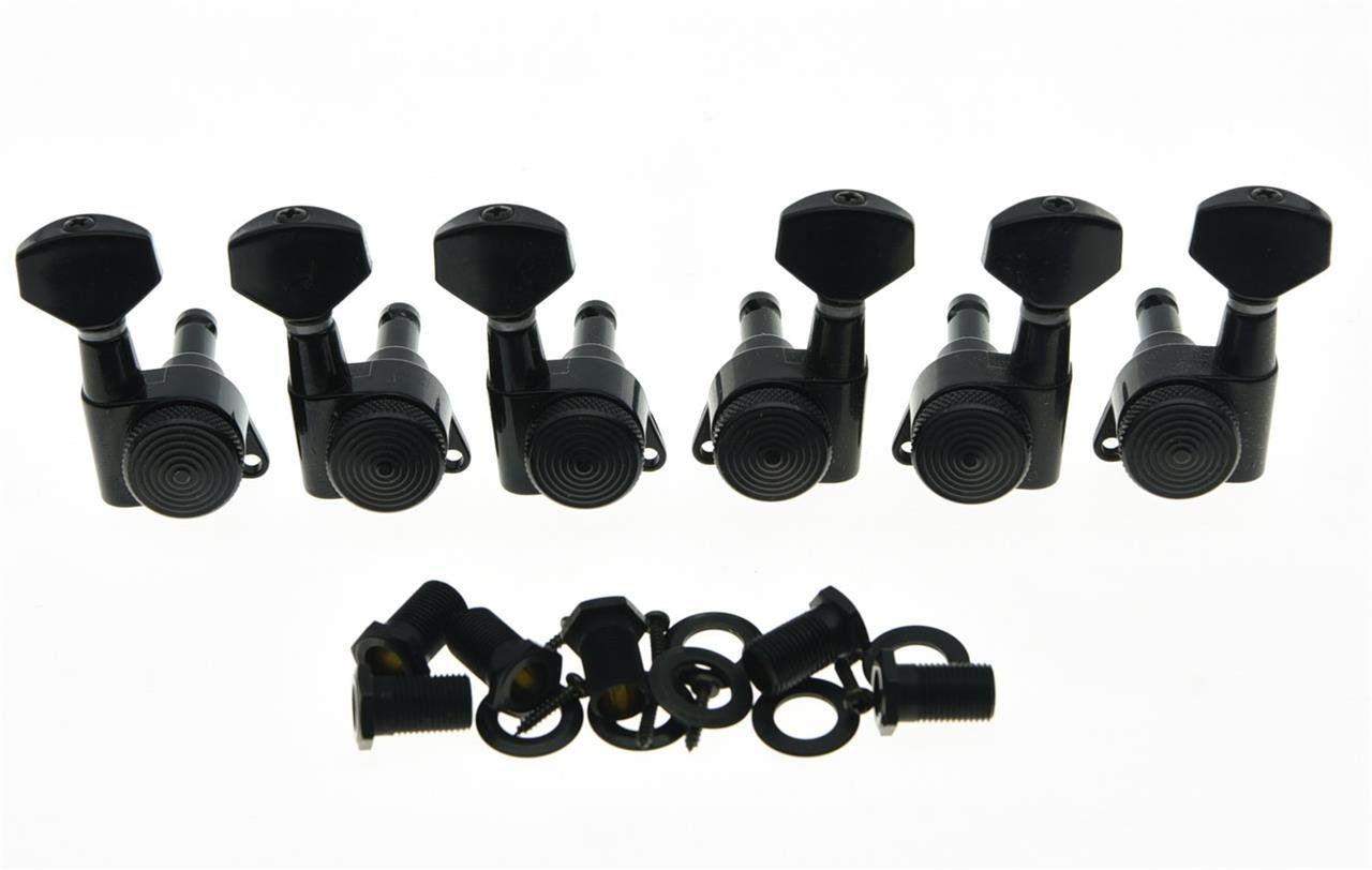 Black 3 Left 3 Right Locking Guitar Tuners Tuning Keys Machine Heads Korea Made yibuy 3r3l black guitar tuning keys machine heads for lp etc guitar