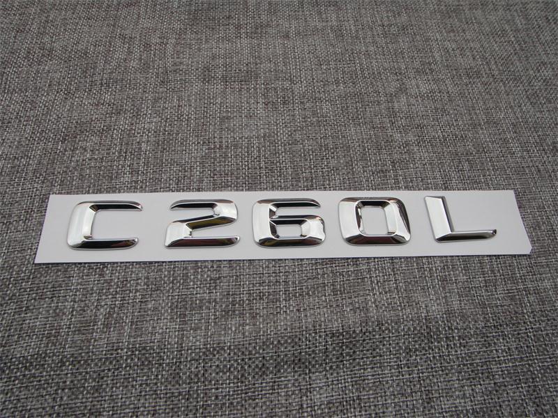 Tronco Traseira Do Carro de Plástico ABS Letras Emblema Emblema Adesivo Decalque para Mercedes Benz C Class C260L
