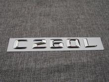 ABS Plastic Car Trunk Rear Letters Badge Emblem Decal Sticker for Mercedes Benz C Class C260L цена