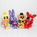 14cm / 25cm Five Nights At Freddy toy FNAF Foxy bonnie chica Golden Freddy Fazbear Doll Plush Toys keychain plush pendant