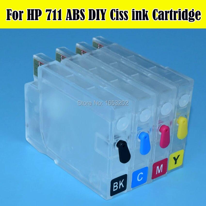 711 пустой перезаправляемый чернильный картридж для HP711 для Designjet T120 T520 принтера с чипом ARC