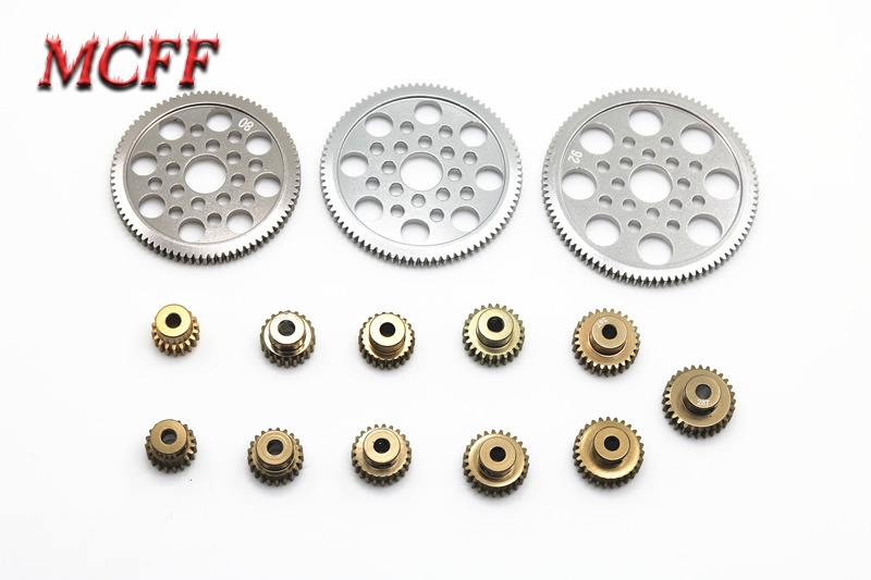 Image 4 - Motor Alloy Pinion Cogs Gear 18T 19T 20T 21T 22T 23T 24T 25T 26T 27T 28T 80T 85T 90T for 3RACING 3R Sakura CS S XIS D4 RC Car-in Parts & Accessories from Toys & Hobbies