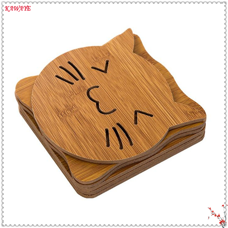 3pcs Multiple Styles Square Dining Table Mat Coffee Cup Mug Coaster Heat Insulation Mat Kitchen Table Placemat 5ZKC033