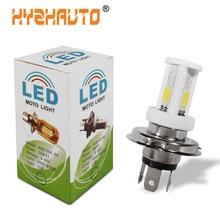 HYZHAUTO 1 шт. H4 светодиодный головной светильник для мотоцикла, высокомощная керамическая лампа HS1 светодиодный светильник для мотоцикла, скутера, мотоцикла, белый 6000K 2400LM 12-80V