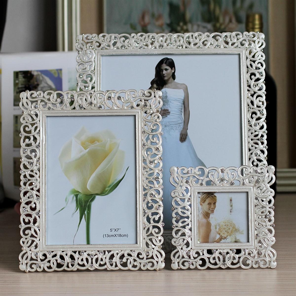 Wedding Gift Photo Frame: 6 Inch Set Auger Creative Photo Frame Marriage Gauze Photo