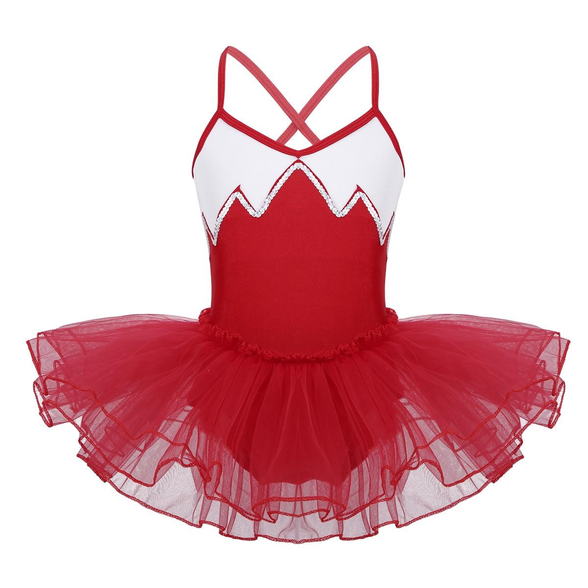 Girl Kid Ballet Dance Dress Tulle Tutu Skirt Ballerina Leotard Dancewear Costume