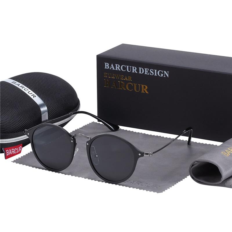 HTB1Rg2IaU rK1Rjy0Fcq6zEvVXa4 BARCUR Aluminum Vintage Sunglasses for Men Round Sunglasses Men Retro Glasses Male Famle Sun glasses retro oculos masculino