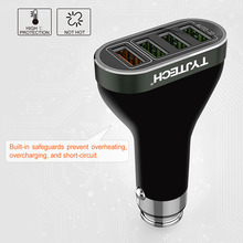 Quick Charge 2.0 4 Ports USB Car Charger for iPhone 7 Car-Charger Mobile Phone Charger for Samsung for Xiaomi