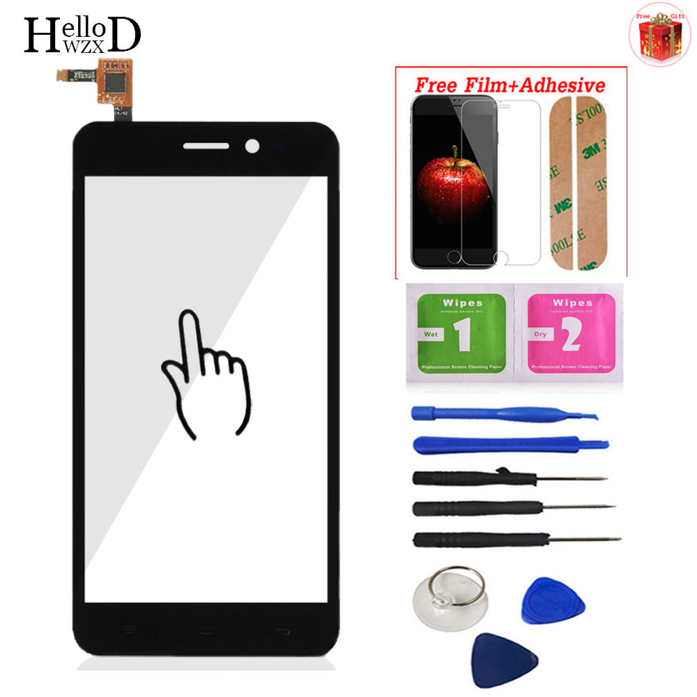 5.0inch Touch Screen Glass For Explay Pulsar Touch Screen Glass Digitizer Panel Front Lens Sensor + Protector Film + Adhesive