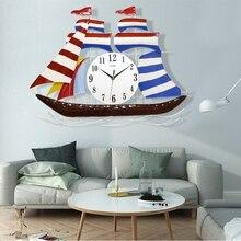 clock A red Mediterranean modern decorative fashion    room mute quartz  electronic  creative watches Decorat