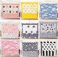 55*60 cm algodón bedding sets impresión patrón multi funcional de noche colgando bolsa de almacenamiento de bolsa de pañales bolsa de almacenamiento de gran tamaño tejido