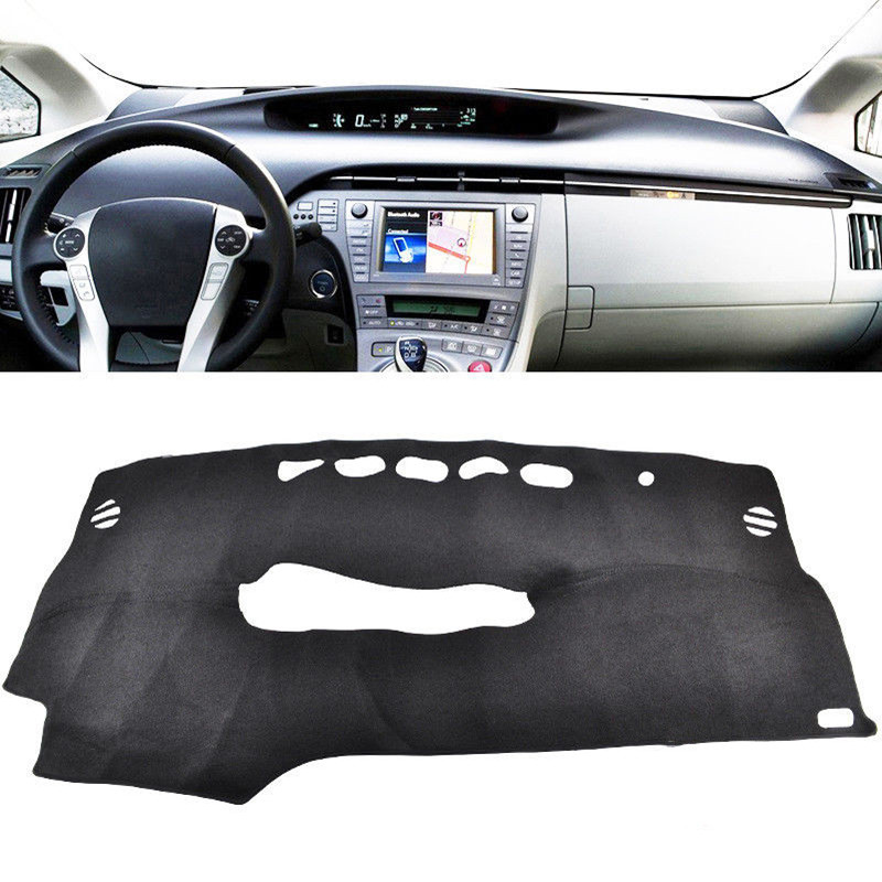 Car Styling Dash Mat Dashboard Cover Pad Dashmat ANTI-UV Sun Shade Instrument Carpet For Toyota Prius 2010-2015 Auto Accessories for peugeot 3008 5008 2016 2017 2018 2019 leather dashmat dashboard cover car pad dash mat sunshade carpet cover car