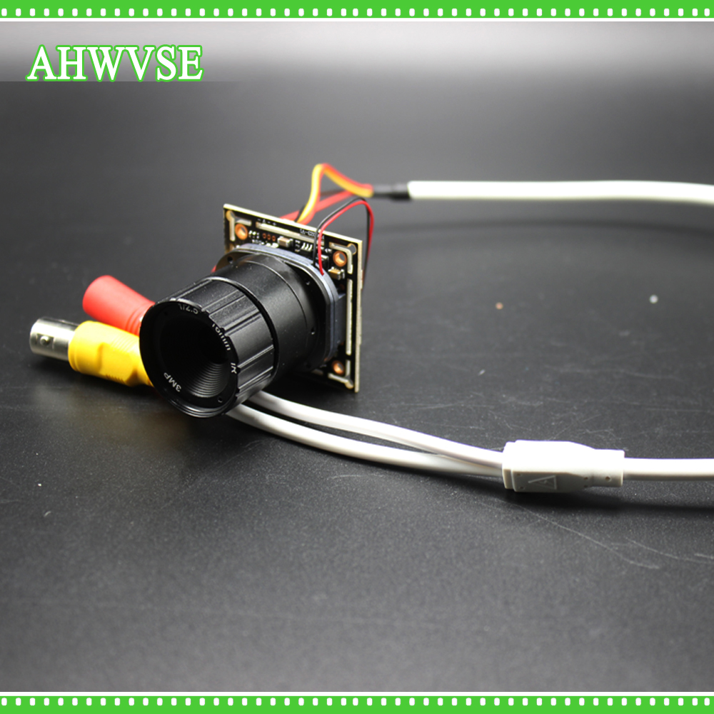 AHWVSE 8pcs/lot Low Illumination Mini AHDH Camera Module CCTV Security 720P AHD Camera Module with BNC Port and CS Lens 8mm 3MP
