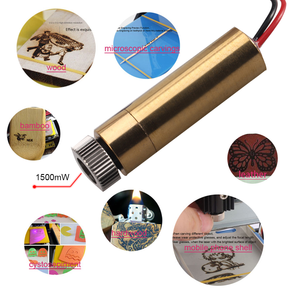 3000mw 4pin 405nm laser head replace kit Universal for neje DK 8 KZ DK BL DK 8 FKZ laser engraver in Woodworking Machinery Parts from Tools