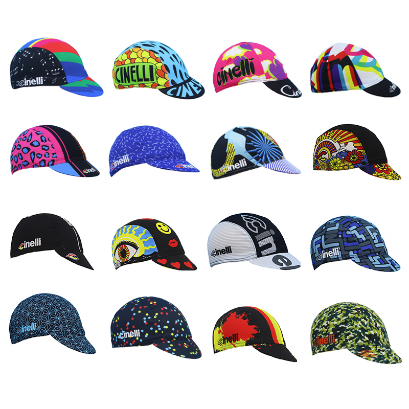 2019 Classic Cycling Caps Bike Wear Hats Breathable Bicycle Caps Free Size Be Elastic Men And Women 16 Style Arbitrary Choice
