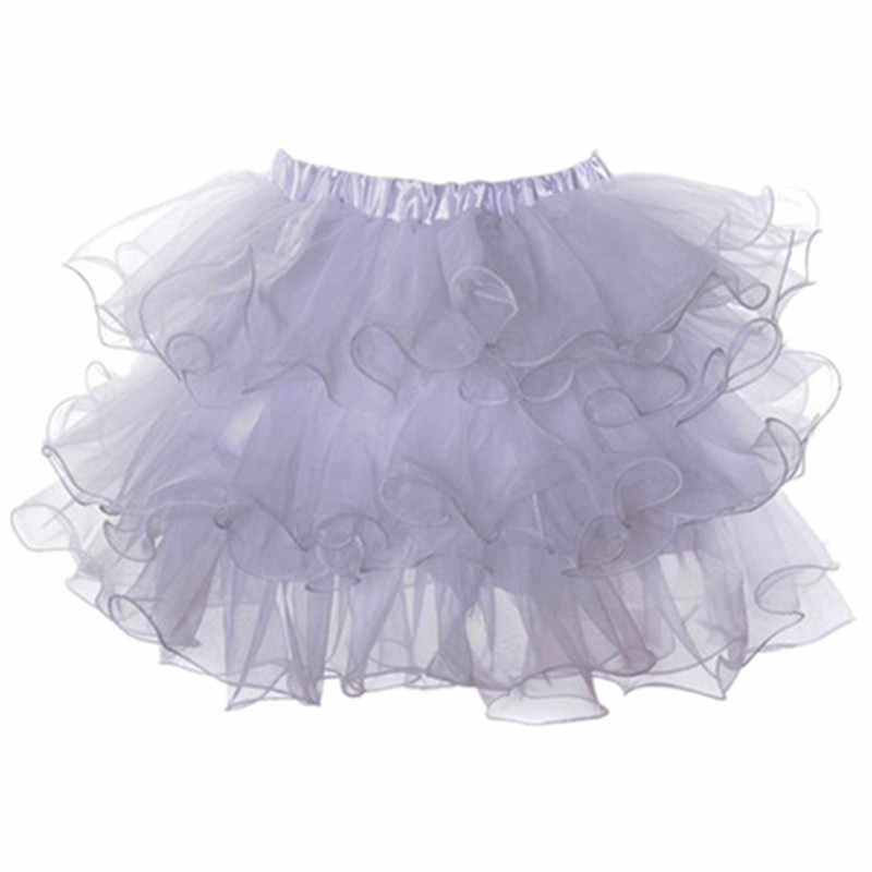 6e38363721 Summer Plus Size Purple Organza Layered Sexy Club Skirts Lolita Tutu Skirt  Women Burlesque Rockabilly Petticoat