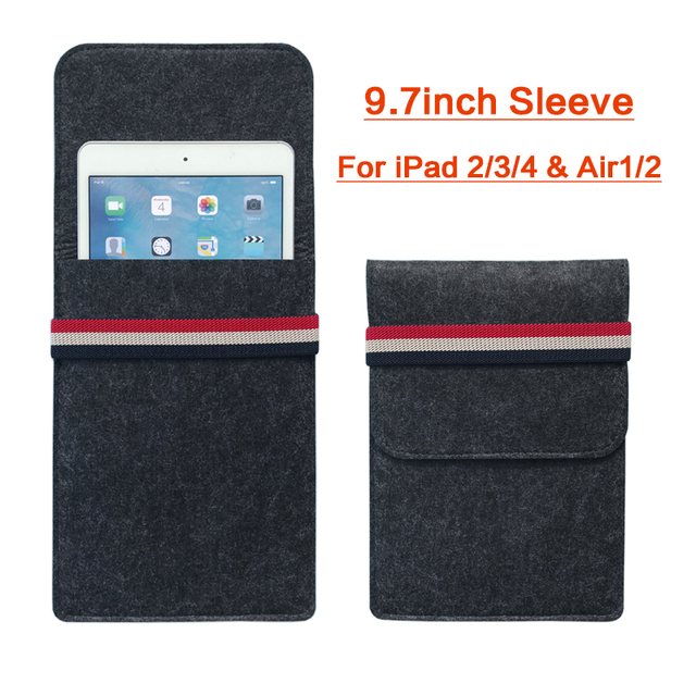 Case For iPad 2 3 4 iPad Air 1 2 iPad Pro 9.7 inch Felt Tablet Sleeve Bag Smart Cover For Pad 9.7 inch 2017