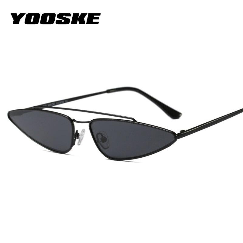 fae84658c6f7 YOOSKE Vintage Small Cat Eye Glasses Women Unique Style Retro Sunglasses  Metal Fashion Catwalk Sun Glasses Anti-UV Goggles