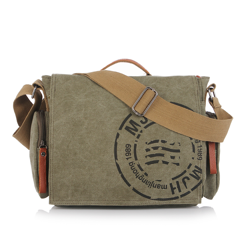 Printing Letter Vintage Canvas Men Messenger Shoulder Bag New Casual Handbag Crossbody Bags For Men Satchel Male Laptop Bag 1124 vintage crossbody bag military canvas shoulder bags men messenger bag men casual handbag tote business briefcase for computer