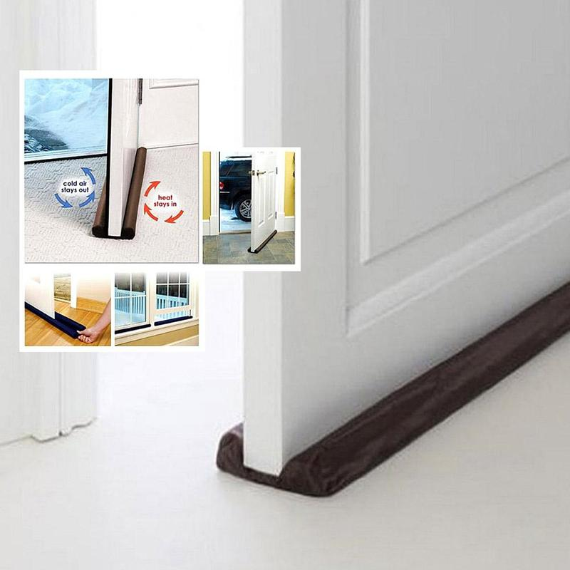 1PC Door Stalls Stopper Energy Saving Protector Doorstop Door Window Dust Resisted Sash Stopper Door Cleaning Strip