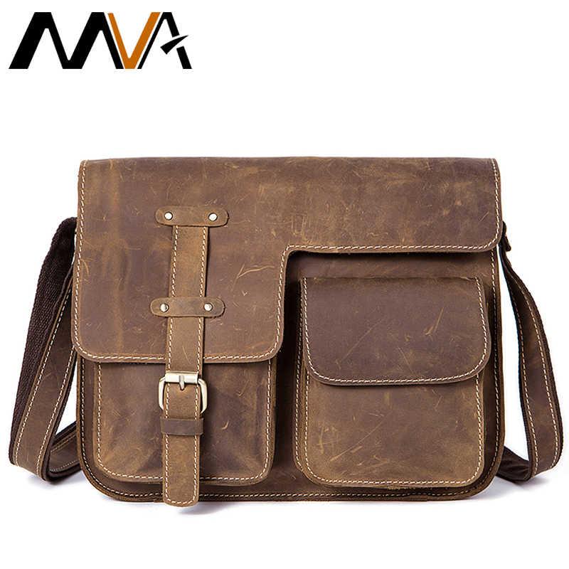 1a99d62fd1ef ... МVA сумка кожаная большая мужская сумка мужская подлинная кожаная сумка  мужские сумки из натуральной кожи сумка ...