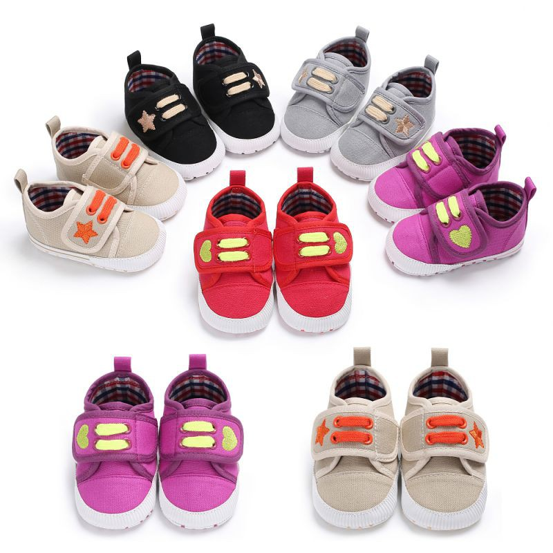 Canvas Sport Baby Shoes Newborn Boys Girls First Walkers Infantil Toddler Kids Soft sole Prewalker Sneakers for 0-18M