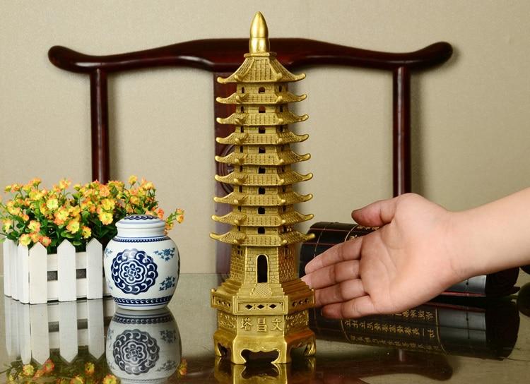 kinesiska tibet buddhism tempel mässing Wenchang Tower chedi stupa - Heminredning - Foto 6