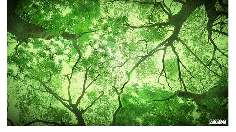 Green Forest Leaves Science Fiction Wallpaper 3d Large