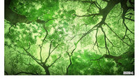 Green Forest Leaves Science Fiction Wallpaper 3D Large Fresco Casual Cafe Restaurant Living Room Background Wallpaper
