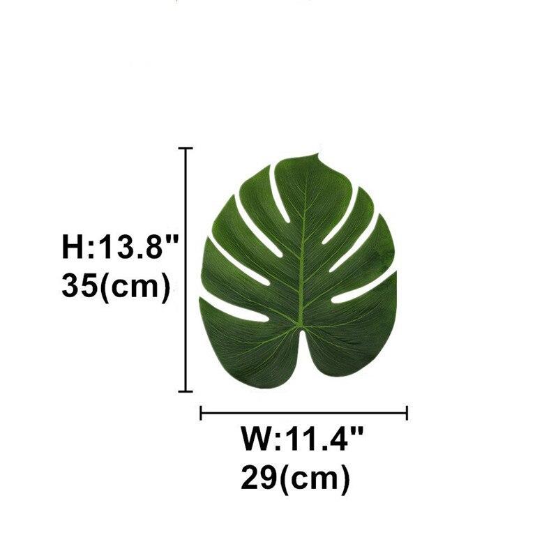 12/36/48/60 шт. искусственный тропический пальмовых листьев для Гавайскую вечерние тропическом стиле Leaf место коврик Фоны для фото 2018