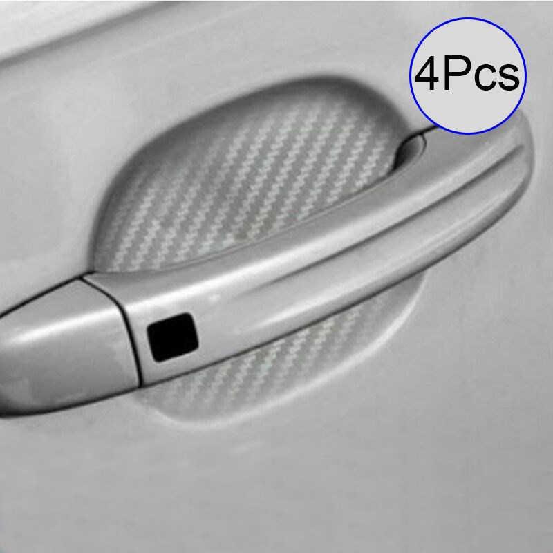 4 шт./компл. автомобиля Стикеры Универсальный Автомобильный углеродного волокна ручка двери Защита от царапин защитная пленка для Стикеры Защитная крышка стайлинга автомобилей