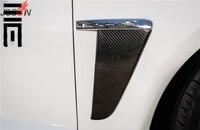Carbon Fiber Side Grill Fender Light Vent Cover Trim For Jaguar XF 2012 2015
