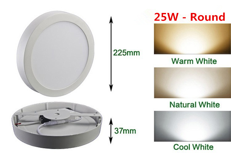 HTB1Rg43ao rK1Rjy0Fcq6zEvVXae LED Surface Ceiling Light 9W 15W 25W Ceiling Lamp AC85-265V Driver Included Round Square Indoor Panel Light For Home Decor