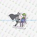 D2-038 batman e coringa Adesivo Notebook/geladeira/skate/trole/mochila/Mesas/livro etiqueta PVC sticke