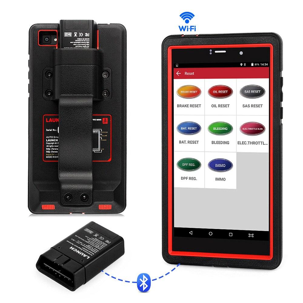 Launch X431 Pro Mini OBDII Professional Auto Scanner DPF ABS SAS EPB TPMS Multi Language Full System ODBII OBD2 Diagnostic Tool