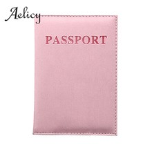 Aelicy Solid Travel Billfold Leather Passport Holder Card Case Protector Cover Wallet Slim Casual Passport Book for Women Men0(China)