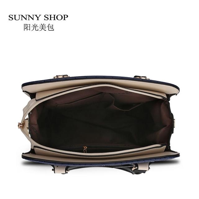 SUNNY SHOP 2 Bag/set  Fashion American Women Messenger Bags Alligator  women bag high quality purses and handbags dollar price