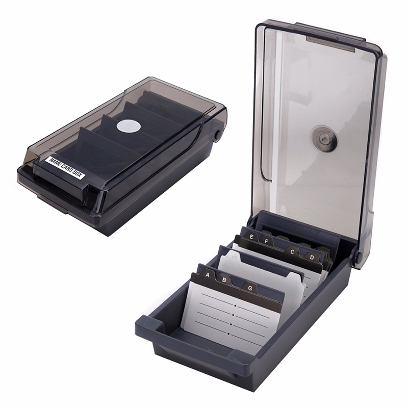 500 Cards Large Capacity Business Credit Card Holder Box With A-Z Guide Cards Office Accessories