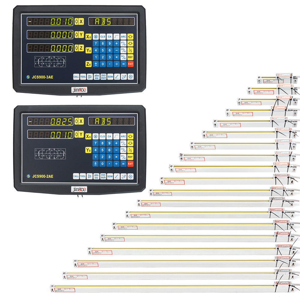2/3Axis Grating CNC Milling Digital Readout Display/ 00-1000mm Electronic Linear Scale Lathe Tool Brand New