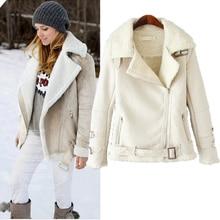 2016 verão new feminino lã de carneiro camurça casaco de inverno curto parágrafo casaco Fino roupa da motocicleta feminino