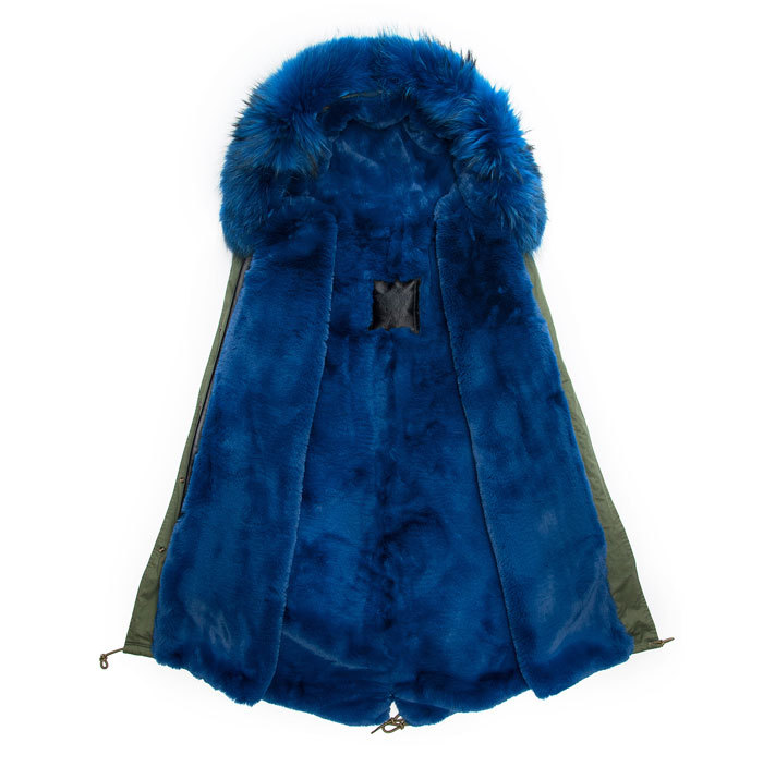 2016 fashion coats men fur parka blue fur military parka mr coat