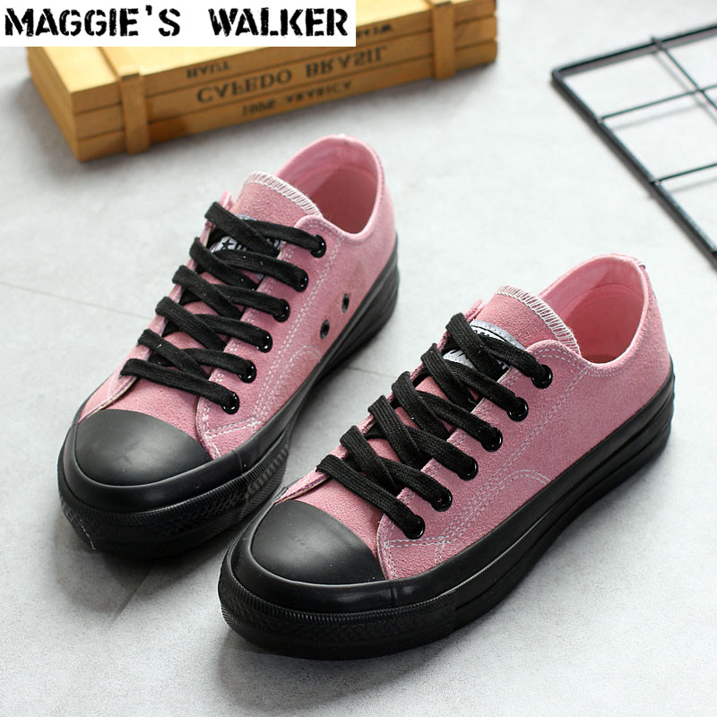 Maggie's Walker Women Fashion Spring Canvas Casual Shoes Platform Low-top Flock Lacing Shoes Pink/Black/Army Green Size 35~39 free shipping men fashion mesh casual shoes lacing platform spring autumn shoes male outdoor shoes size 39 44