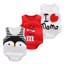 New Baby Sleeveless Romper Penguin Body For Newborn Babys Summer suit 100% cotton Girl Clothes