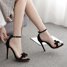 цены 2019 Summer Sexy Concise Strap High Heel Women Sandals Open Toe Antiskid  Gladiator Women's Shoes Wedding Party Pumps Stiletto