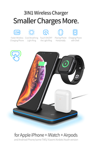 Image 2 - Universal 15W Qi Wireless Charger For iPhone 12 XR 8 Samsung Quick Charge Fast Charger Dock Stand For Apple Watch 5 4 3 Airpods