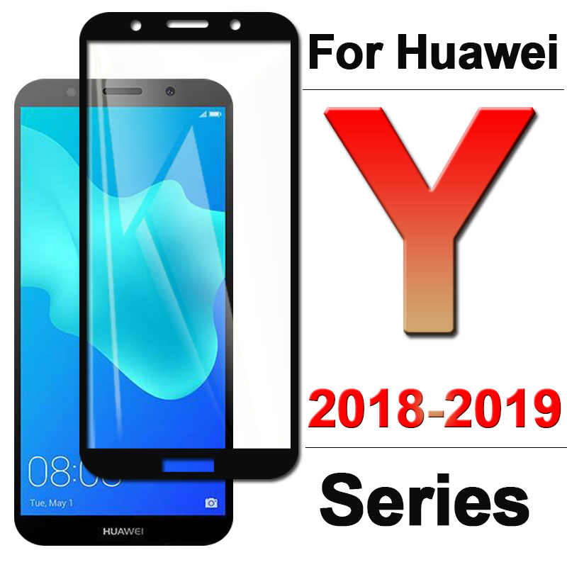 Protective Glass On For Huawei Y3 Y5 Y6 Y7 Y9 prime 2018 Tempered Glas Tremp Screen Protector Huavei Y 3 9 5 6 7 2017 2019 Film