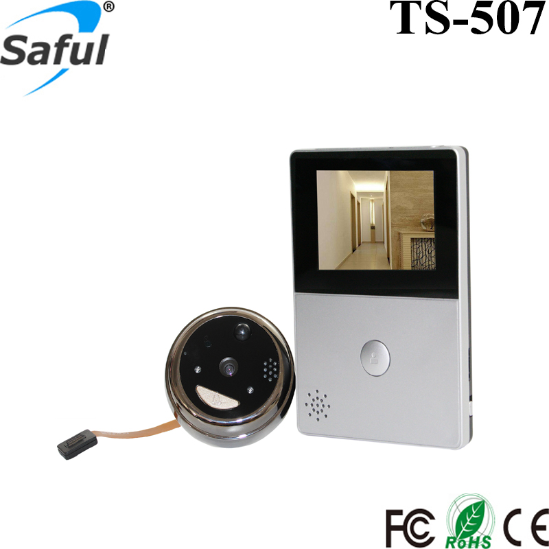 Saful 2.8 Inch LCD Wifi Peephole Video Doorbell Security Camera Support IOS & Android Smart Phones Free Shipping 2016 new tkstar bar mini personal trackerreal time tracking support android and ios platform free web application free shipping