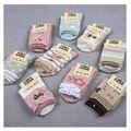 4-12years w100 Envío libre chica más de estudiantes de algodón puro calcetines niños del tamaño grande caliente virgen calcetines Arcos sección 10 pares